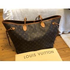 Sac en bandoulière en tissu Louis Vuitton Neverfull pas cher