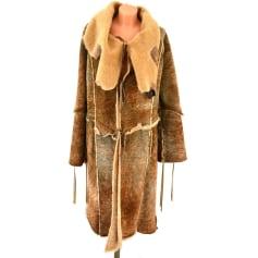 Manteau en cuir Tricot Chic  pas cher
