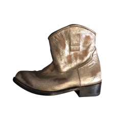 Cowboy Ankle Boots Ash