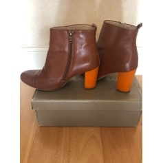 High Heel Ankle Boots Mellow Yellow