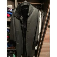 Manteau en cuir Hugo Boss  pas cher