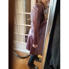 Manteau en cuir RAIN DROP  pas cher