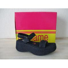 Sandales compensées No Name  pas cher
