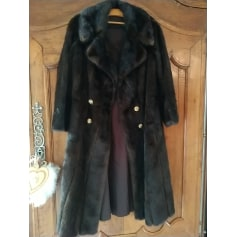 Manteau en fourrure jean marsenach  pas cher