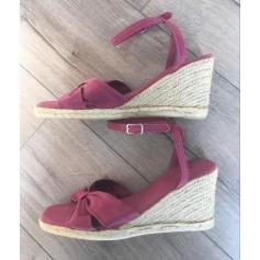 Sandales compensées Tex  pas cher