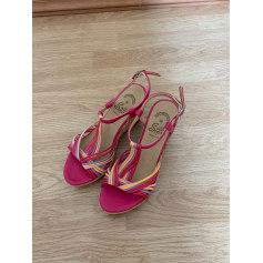 Sandales compensées   pas cher