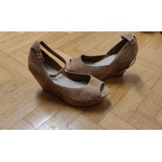 Sandales compensées 3 SUISSES COLLECTION  pas cher