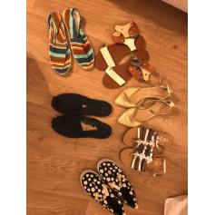 Sandales plates  Tex  pas cher