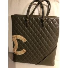 Sac pochette en cuir Chanel Cambon pas cher