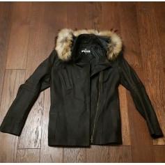 Manteau en cuir Moschino  pas cher