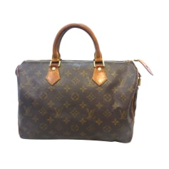 Sac à main en cuir Louis Vuitton Speedy pas cher