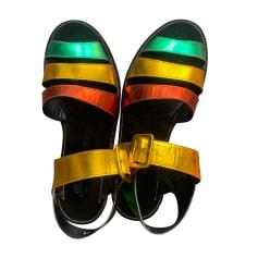 Sandales plates  Robert Clergerie  pas cher