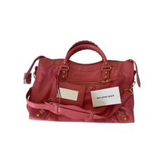Leather Handbag Balenciaga City