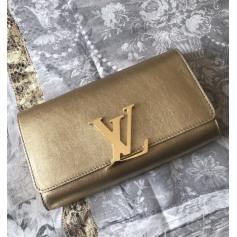 Sac pochette en cuir Louis Vuitton Louise pas cher