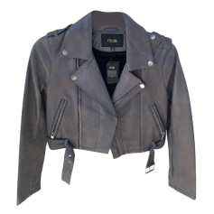 Leather Zipped Jacket Maje