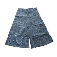 Pantalon très evasé, patte d'éléphant Christian Lacroix  pas cher