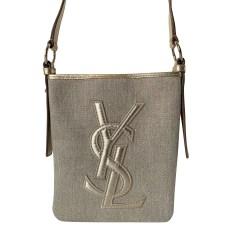 Sac en bandoulière en tissu Yves Saint Laurent  pas cher
