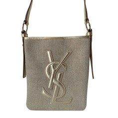 Schultertasche Stoff Yves Saint Laurent