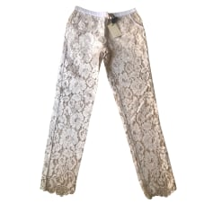 Pantalon droit Twin-Set Simona Barbieri  pas cher