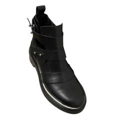 Bottines & low boots motards Maje  pas cher