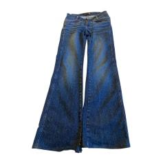 Jeans très evasé, patte d'éléphant Just Cavalli  pas cher