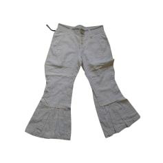 Pantalon évasé High  pas cher
