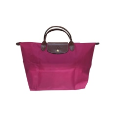 Leather Handbag Longchamp Pliage
