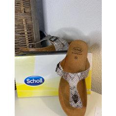 Sandales plates  Scholl  pas cher