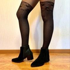 Bottines & low boots à talons Couleur Pourpre  pas cher