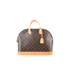 Leather Handbag Louis Vuitton Alma