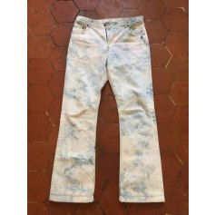 Boot-Cut Jeans Off White