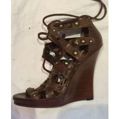 Sandales compensées Dolce & Gabbana  pas cher