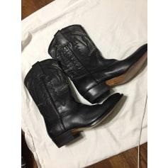 Santiags, bottines, low boots cowboy Montana  pas cher