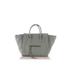 Leather Handbag Céline Phantom