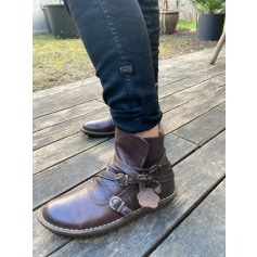 Bottines & low boots plates Kickers  pas cher