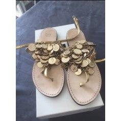 Sandales plates  Dolce & Gabbana  pas cher