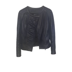 Leather Zipped Jacket Comptoir Des Cotonniers