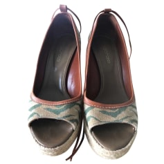 Sandales compensées Sergio Rossi  pas cher