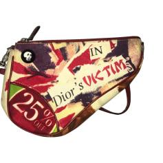 Stoffhandtasche Dior Saddle