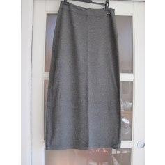 Jupe mi-longue Soft Grey  pas cher