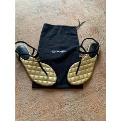 Sandales plates  Chanel  pas cher