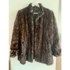 Manteau en fourrure   pas cher