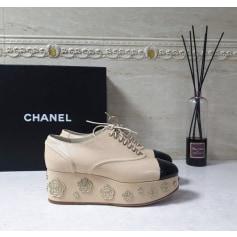 Escarpins compensés Chanel  pas cher
