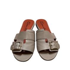 Sandales plates  Santoni  pas cher