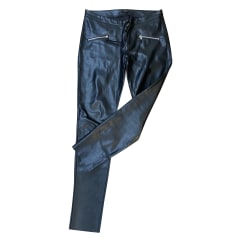 Pantalon slim, cigarette Navy Paris  pas cher