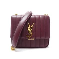 Sac à main en cuir Yves Saint Laurent Vicky pas cher