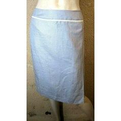 Jupe mi-longue Bleu 123  pas cher