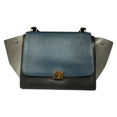 Leather Handbag Céline Trapèze