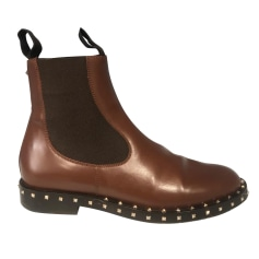 Bottines & low boots plates Valentino  pas cher