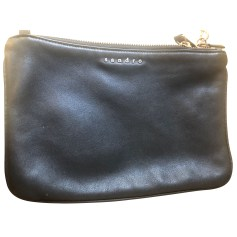 Leather Clutch Sandro